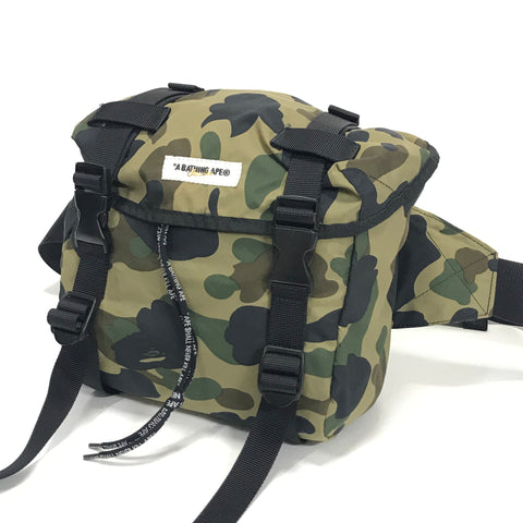 A Bathing Ape Bape Classics 1st Camo Waist / Shoulder Bag Green
