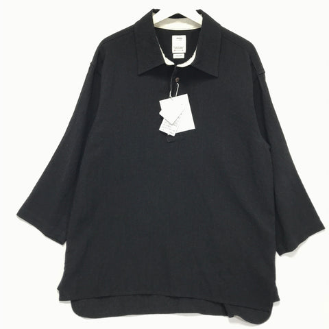 [L] VISVIM 19SS DEAD-BALL ERA SHIRT P.O. BLACK