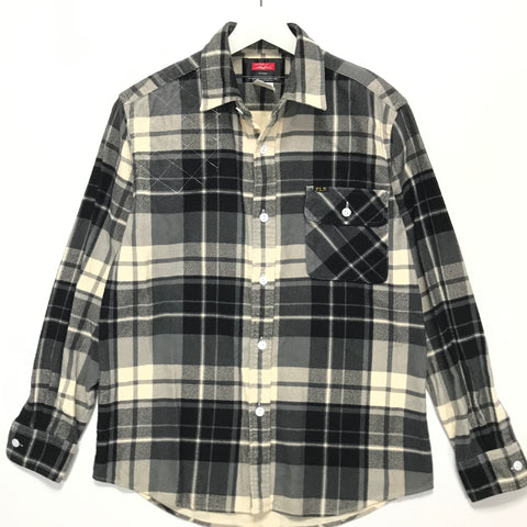 [M] Futura Laboratories Flannel Check Shooting Shirt Black