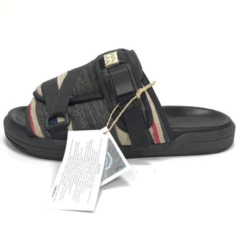[L] Visvim 2019 ICT Christo Sandals Blanket Dk Brown