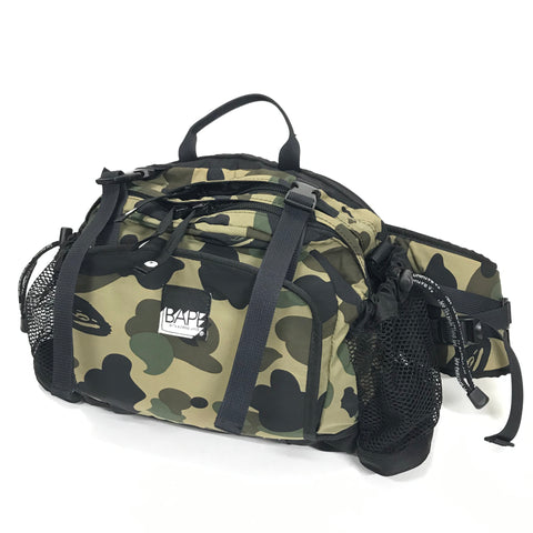 A Bathing Ape Bape Utility 1st Camo Waist / Shoulder Bag Green