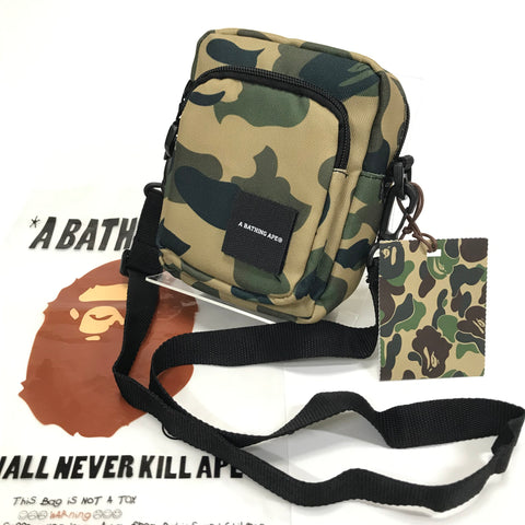 DS! A Bathing Ape Bape 1st Camo Cordura Camera Shoulder Bag