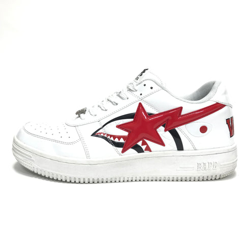 [12] A Bathing Ape Bape Sta Shark Patent Leather M2 White