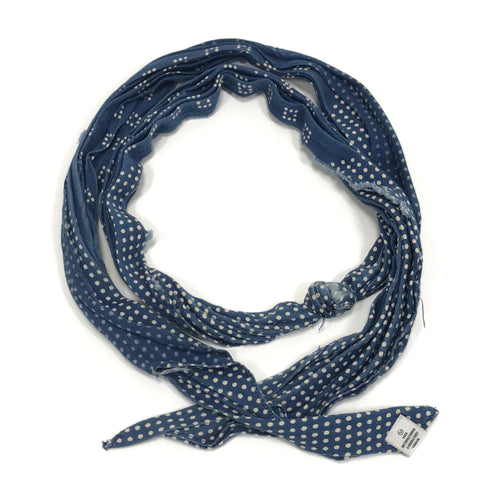 Visvim 14SS Bandana Belt Dots (Mini Herringbone) Blue