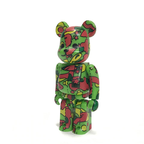 A Bathing Ape Bape Medicom 100% Red/Green Psyche Sta Camo Bearbrick
