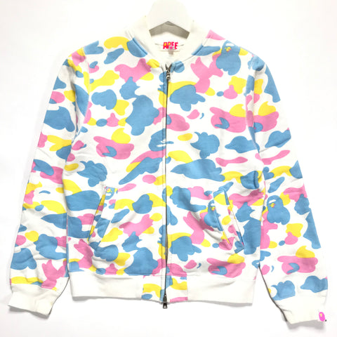 [SHORT] Women's! A Bathing Ape Bape Cotton Candy Sweat Stadium Jacket