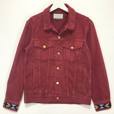 [S] Neighborhood Stockman Denim Jacket Burgundy