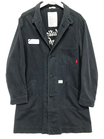 [L] WTaps 11AW Revolutionary Warfare Shop Coat Navy
