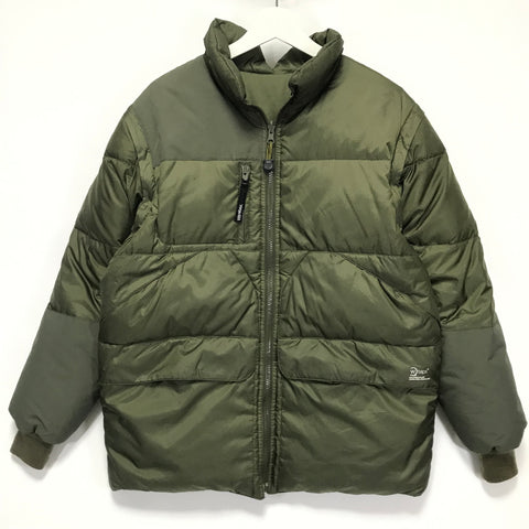 [L] WTaps 4-Way Ripstop Nylon Down Puffer Jacket / Vest Olive