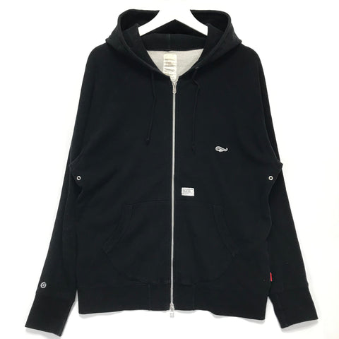 [XL] WTaps 06AW Hellweek Zip Up Thermal Hoodie Black