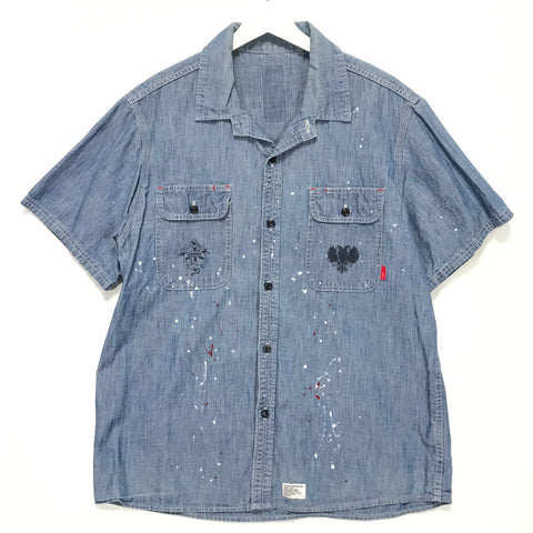 [L] WTaps 08SS Cell SS Chambray Shirt Indigo