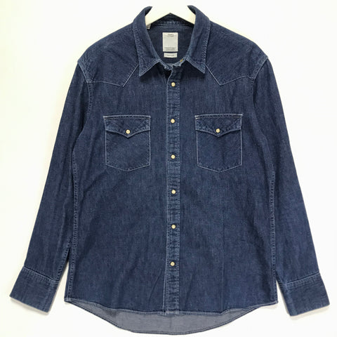 [L] VISVIM 13SS Visvim Denim Social Sculpture Shirt One Wash Indigo
