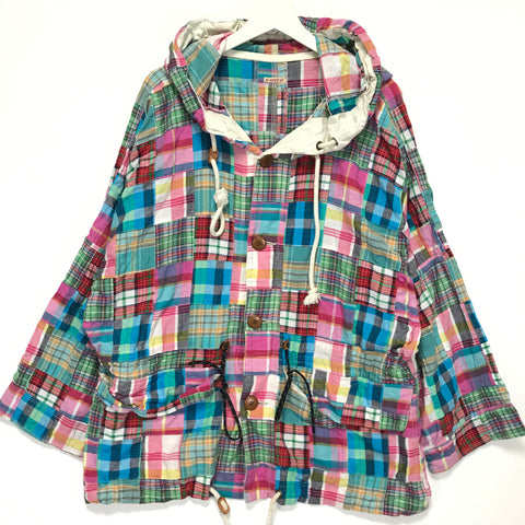 [2] Kapital Patchwork Plaid Parka Jacket