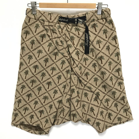 [1] Kapital Palm Tree Jacquard Belted Drop Crotch Shorts
