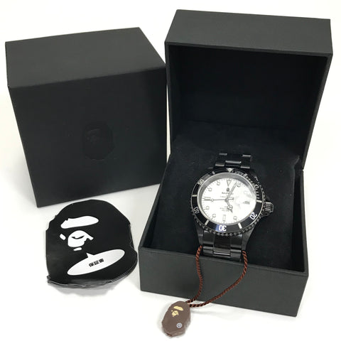 DS! A Bathing Ape Bape Type 1 Bapex Watch Black