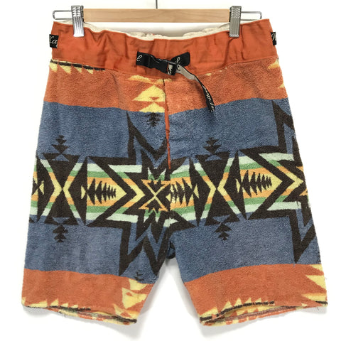 [S] Kapital Aztec Terry Cloth Belted Beach Shorts