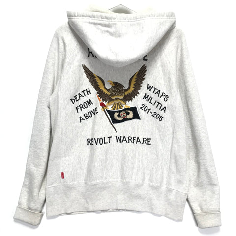 [L] WTaps 08AW Hell Week Souvenir Zip Up Hoodie Grey