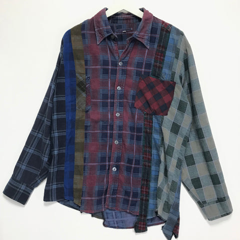 [M]  Needles Rebuild Ribbon 7 Cut Flannel Shirt