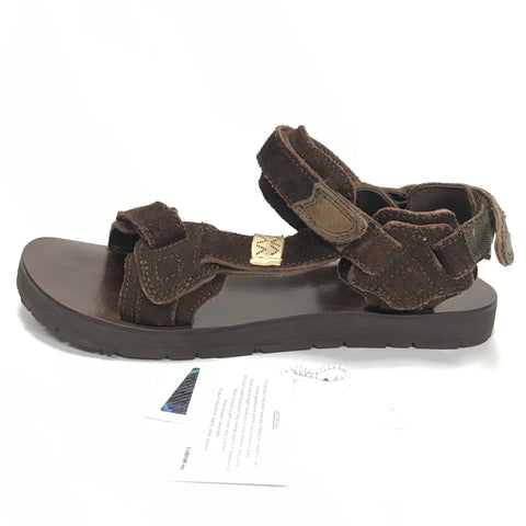 [L] Visvim SS19 Christo Sherpa Folk Sandals Brown