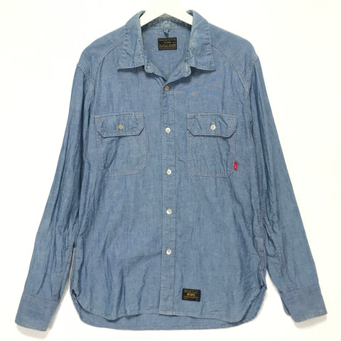 [L] WTaps 14AW Cell L/S Chambray Shirt Blue