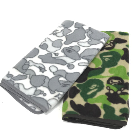 A Bathing Ape Bape Sta Psyche Camo or Baby Milo Camo Fleece Towel