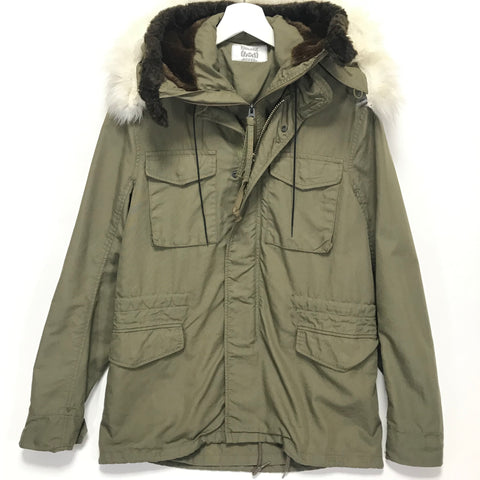 [M] Human Made M-65 Hooded Military Jacket Olive