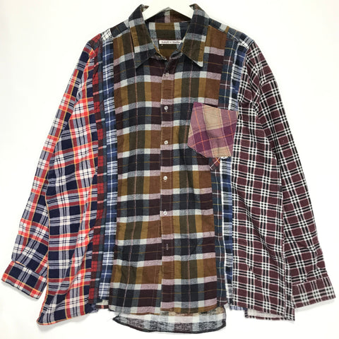 [XL/2XL]  Needles Rebuild Ribbon 7 Cut Flannel Shirt