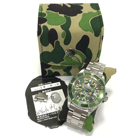 A Bathing Ape Bape Automatic Bapex 'Sarumariner' 1st Camo Watch