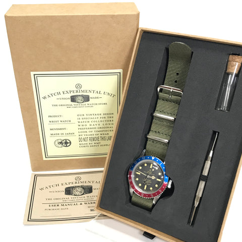 NEW! WMT Sea Diver - Sea Diver Dial / Pilot Pepsi Dial Watch