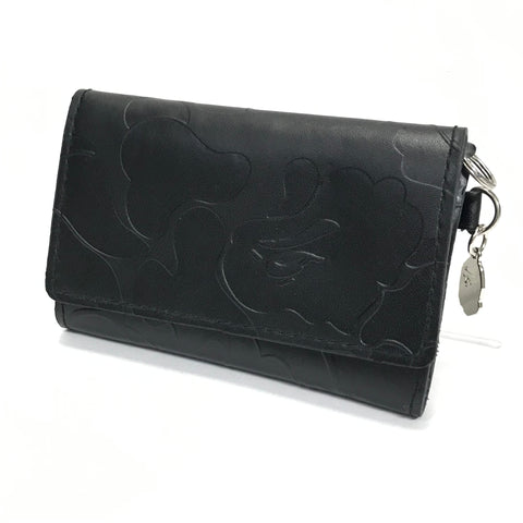 A Bathing Ape Bape Embossed Leather Wallet / Card Case