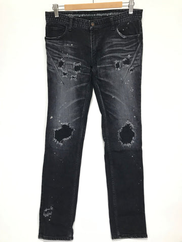 [3] Number Nine Distressed Skinny Denim Jeans Black