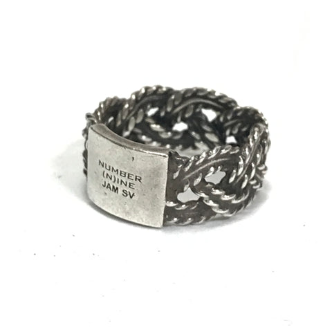 Number Nine x Jam Home Made Silver Braided Rope Ring