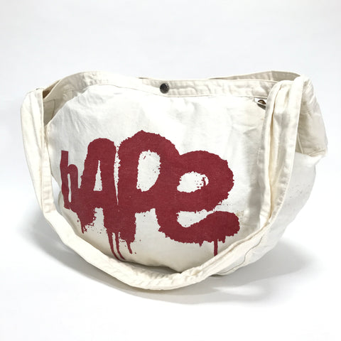 A Bathing Ape Bape Vintage Newspaper Delivery Shoulder Bag