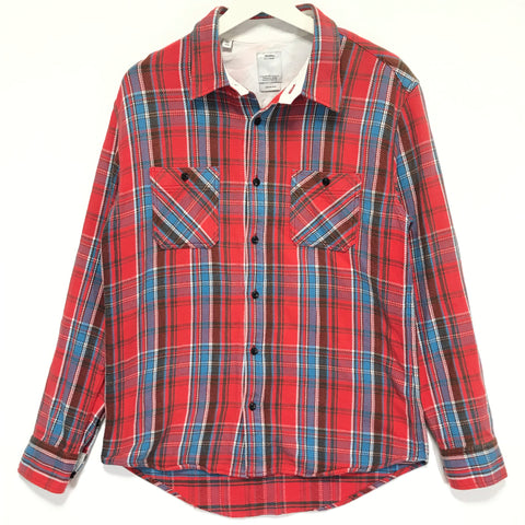 [M] Visvim 10AW Black Elk Flannel Check Shirt Red