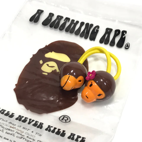 DS! A Bathing Ape Bape Baby Milo Hair Band Brown/Yellow