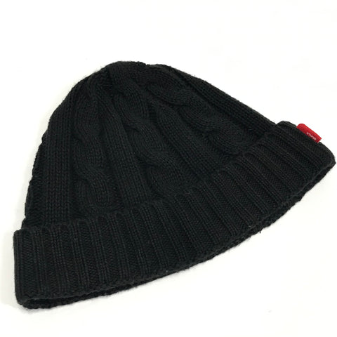 WTaps Blackwatch Cable Knit Beanie Black