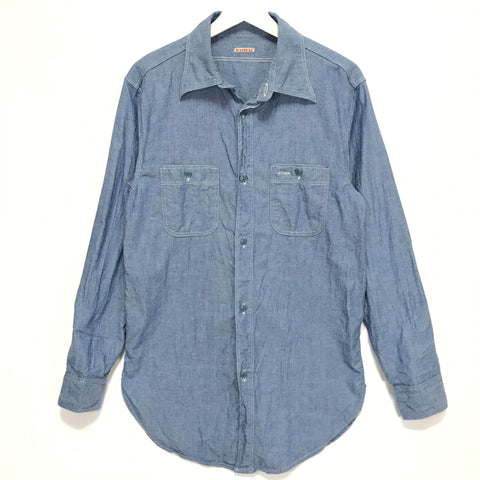 [M] Kapital Chambray Cotton BD L/S Shirt Indigo