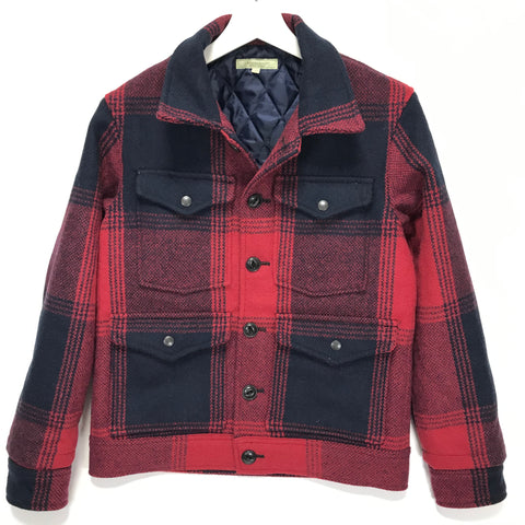 [S] Descendant Melton Wool Lumber Jacket