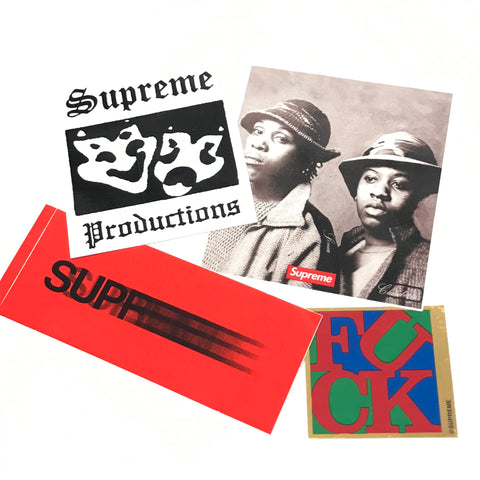 Supreme 4 Sticker Set