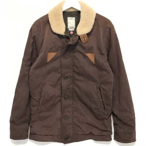 [L] Visvim Gore Windstopper Deckhand Jacket Brown