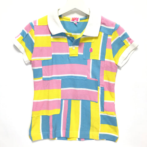 [TALL] Women's! A Bathing Ape Bape Bape Cotton Candy Patchwork Polo Shirt