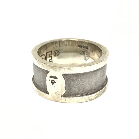 A Bathing Ape Bape Vintage Sterling Silver Band Ring