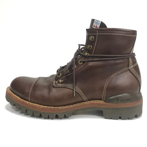 [9] Visvim 11SS Virgil Cap Okie Folk Boots Brown