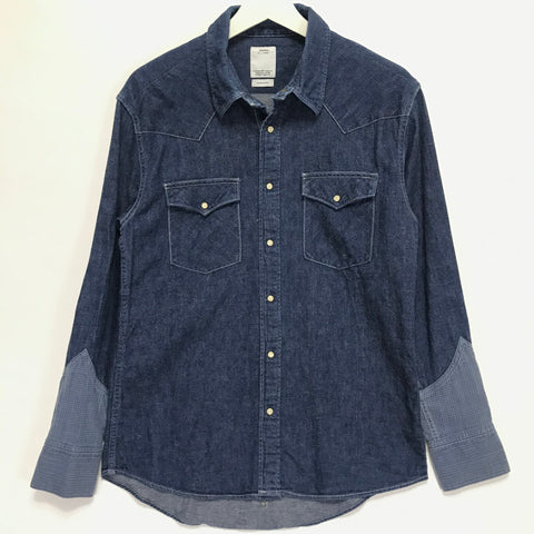 [M] Visvim 14SS Four Corners Indigo Check One Wash Shirt