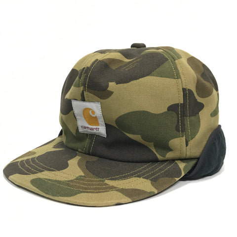 [L] A Bathing Ape Bape x Carhartt 1st Camo Duck Cotton Cap Hat