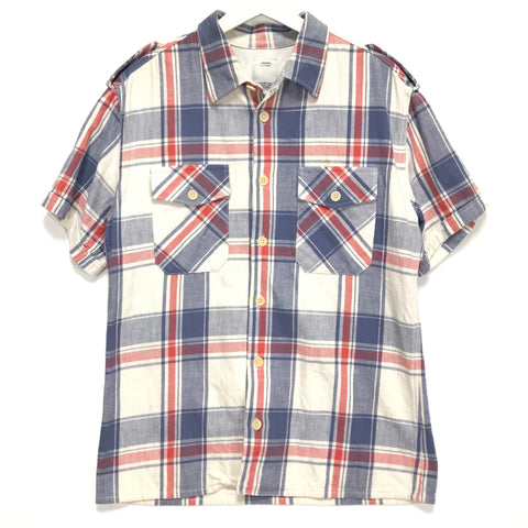 [M] Visvim Pyle Check S/S Shirt White