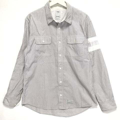 [L] Visvim Ahab L/S Shirt Stripe Grey