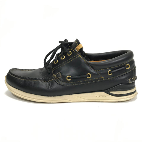 [10] Visvim 12SS Americana Deck Folk Leather Black