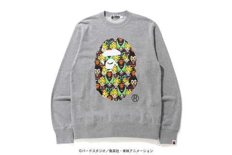 [M] DS! Bape Dragon Ball Z Baby Milo Big Ape Head Crewneck Sweatshirt Grey