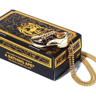 DS! A Bathing Ape Bape Sta Necklace Chain Gold